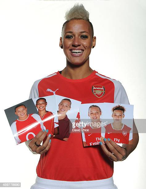 Lianne Sanderson Arsenal Ladies new signing during a photoshoot at London Colney on November 25 2014 in St Albans England