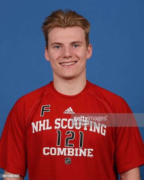 Lias Andersson poses for a headshot at the NHL Combine at HarborCenter on June 1 2017 in Buffalo New York