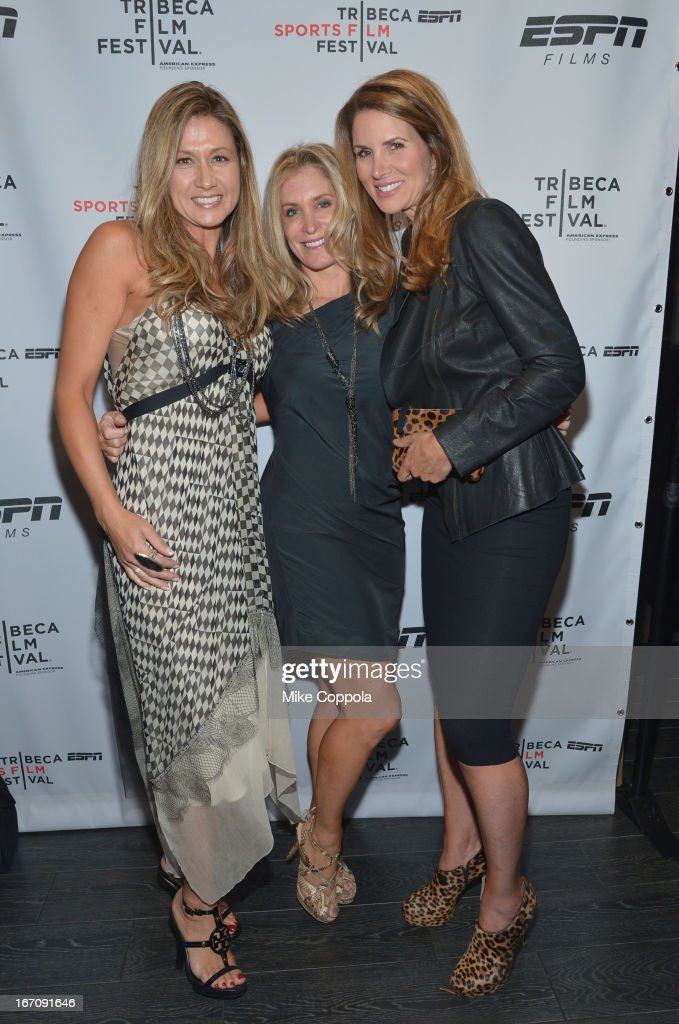 Liat Ciardi, Pamela Mass, and Sandy Pearson attend the ESPN Sports Film Festival Gala: 'Big Shot' after party during the 2013 Tribeca Film Festival on April 19, 2013 in New York City.