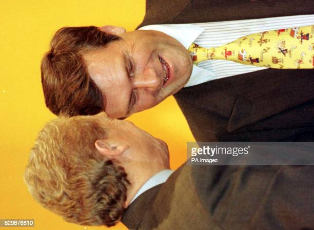 Lib Dem leader Paddy Ashdown greets Dr Wolfgang Gerhardt leader of the German FDP at the Liberal Democrats conference in Brighton today Picture David...