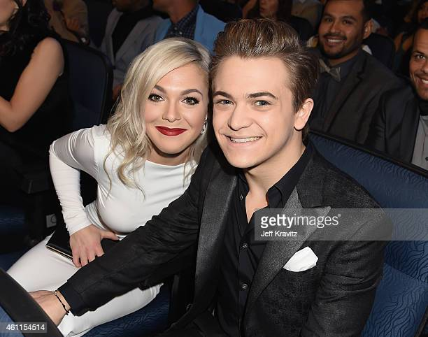 Libby Barnes and recording artist Hunter Hayes attend The 41st Annual People's Choice Awards at Nokia Theatre LA Live on January 7 2015 in Los...