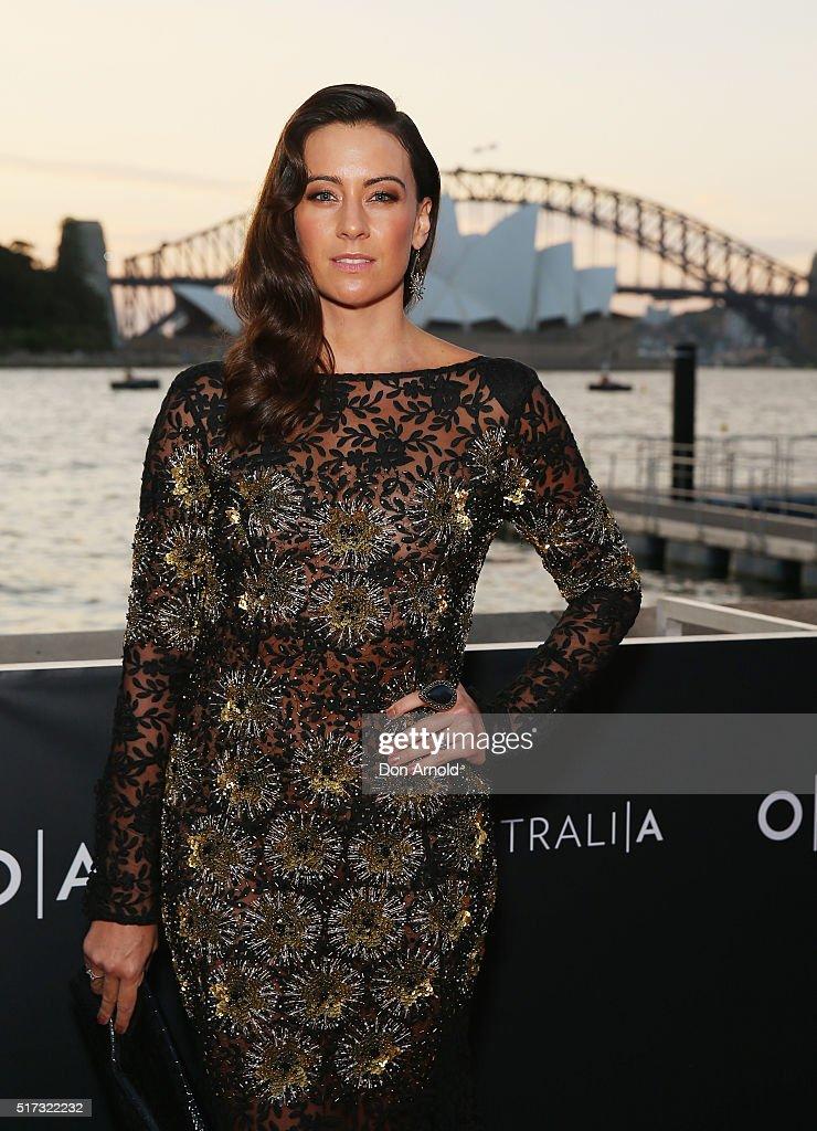Libby Munroe arrives ahead of opening night of Handa Opera's Turandot on March 24, 2016 in Sydney, Australia.