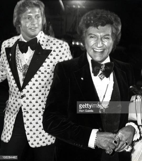 Liberace and Scott Thorson during Premiere of 'The Muppets Go Hollywood' at Coconut Grove in Los Angeles California United States