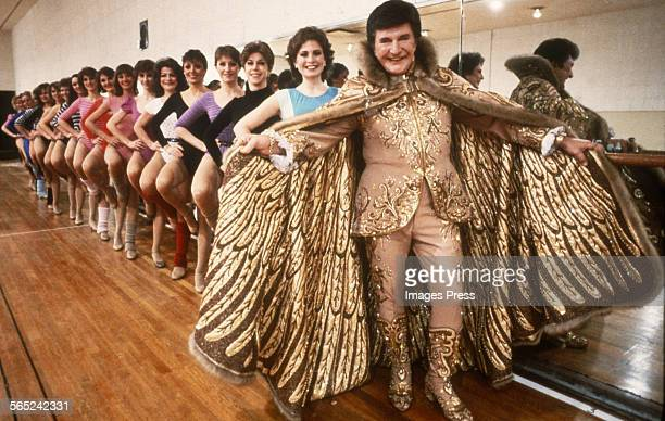 Liberace and the Radio City Rockettes circa 1984 in New York City