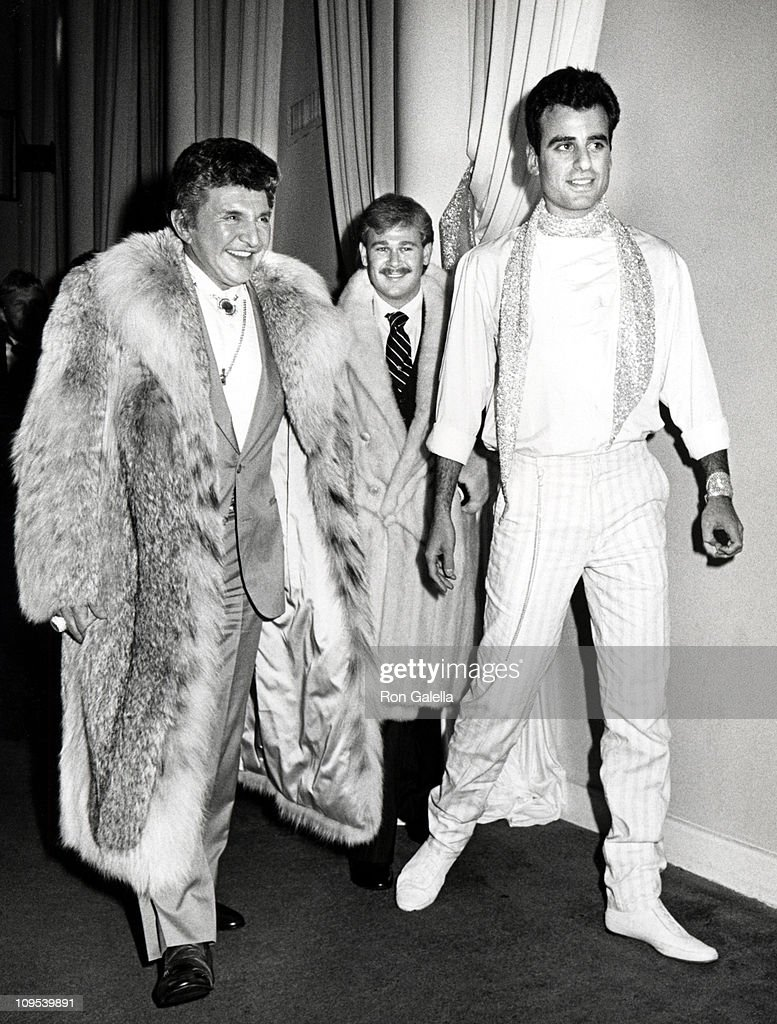 Liberace, Cary James Wyman and Christopher Adler during Shirley MacLaine's 50th Birthday Party, 1984 at Limelight in New York, New York, United States.
