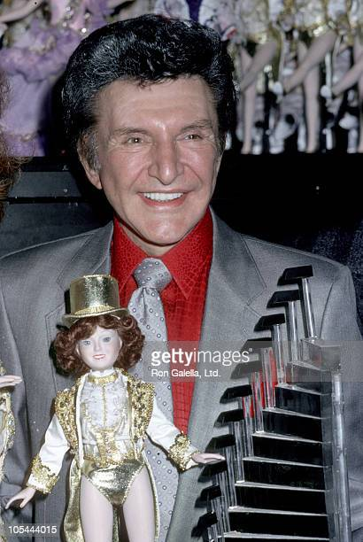 Liberace during Unveiling of the Rockettes Dolls at Radio City Music Hall at Radio City Music Hall in New York City New York United States