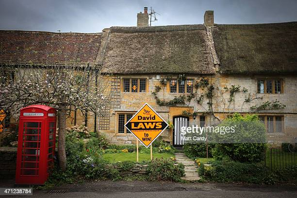 Liberal Democat poster is displayed outside a house in the village of Norton Sub Hamdon in the Yeovil constituency on April 26 2015 in Somerset...
