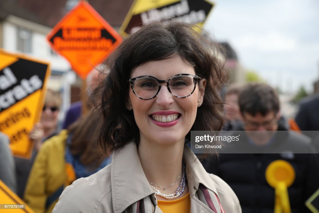 Liberal Democrat candidate for the constituency of Oxford West and Abingdon, Layla Moran attends a campaign event on May 3, 2017 in Kidlington, a village outside of Oxford, England. The country goes back to the polls for the second time in two years as a general election is held on June 8.