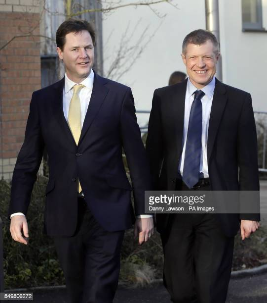 Liberal Democrat leader and Deputy Prime Minister Nick Clegg and Leader Scottish Liberal Democrats Willie Rennie during the Scottish Liberal...