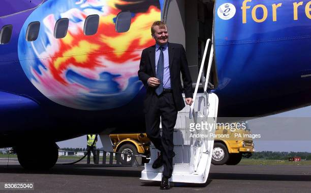 Liberal Democrat leader Charles Kennedy arrives at Staverton Airport near Cheltenham where he continues his general election campaign Mr Kennedy told...