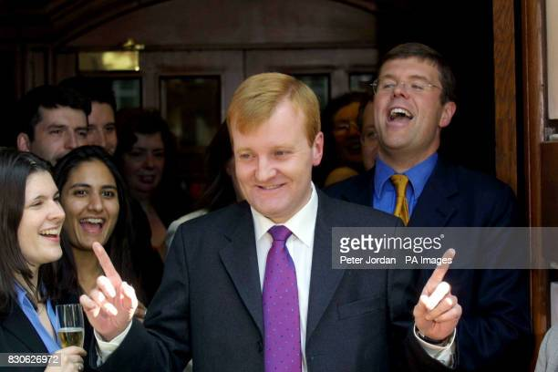 Liberal Democrat leader Charles Kennedy arrives back at the party's headquarters in Westminster London Party chiefs and activists gave the triumphant...