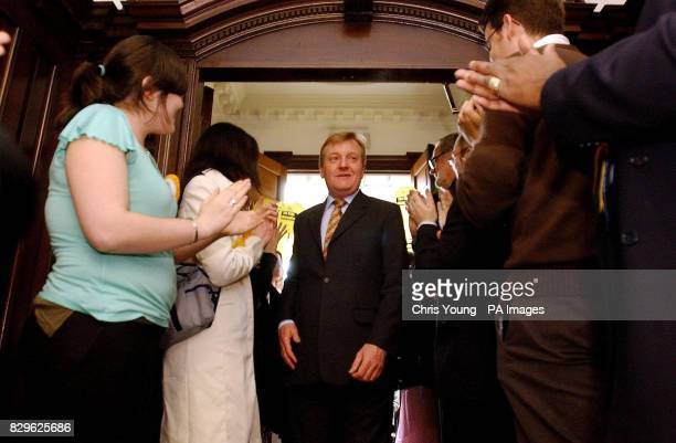 Liberal Democrat leader Charles Kennedy returns to his party's Head Office after a successful night at the polls