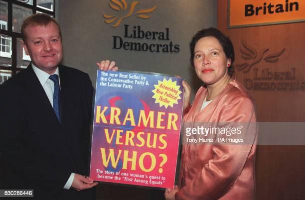 Liberal Democrat leader Charles Kennedy with former banker Susan Kramer the Lib Dem candidate for Mayor of London at party head quarters Ms Krammer...