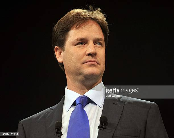 Liberal Democrat Leader Nick Clegg delivers his keynote speech on the last day of the party's annual conference in Bournemouth Wednesday September 17...