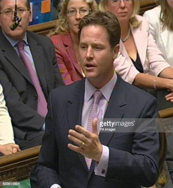 Liberal Democrat Leader Nick Clegg pays tribute to the new Speaker of the House of Commons John Bercow MP