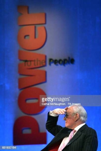 Liberal Democrat leader Sir Menzies Campbell speaks as a guest at the Power to the People conference organised by the Power Commission at the Queen...