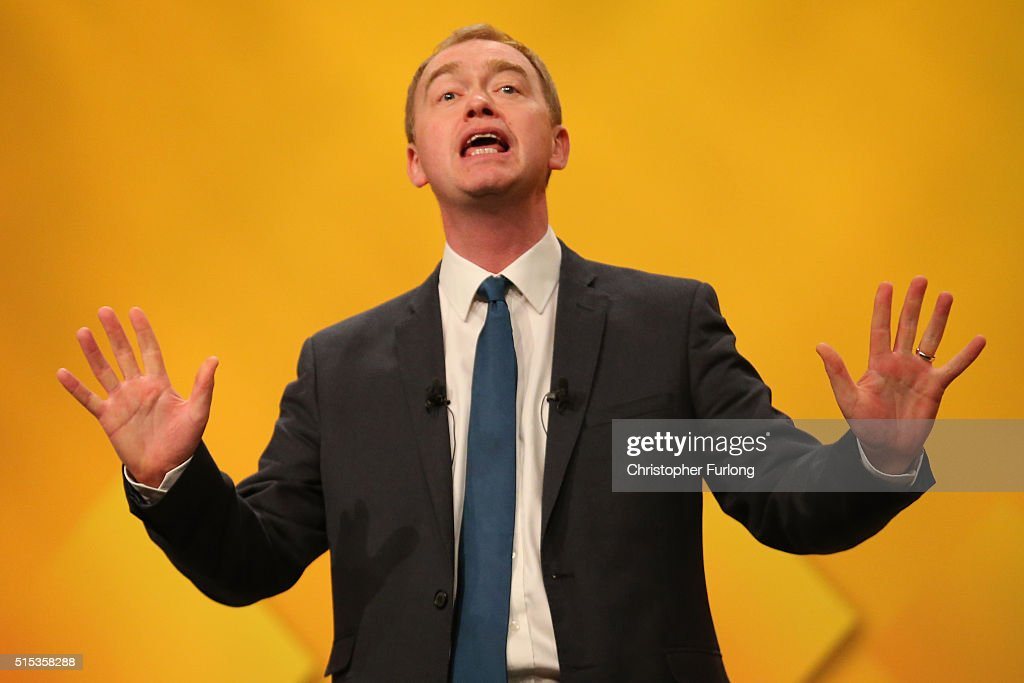 Tim Farron Addresses The Liberal Democrat Spring Conference