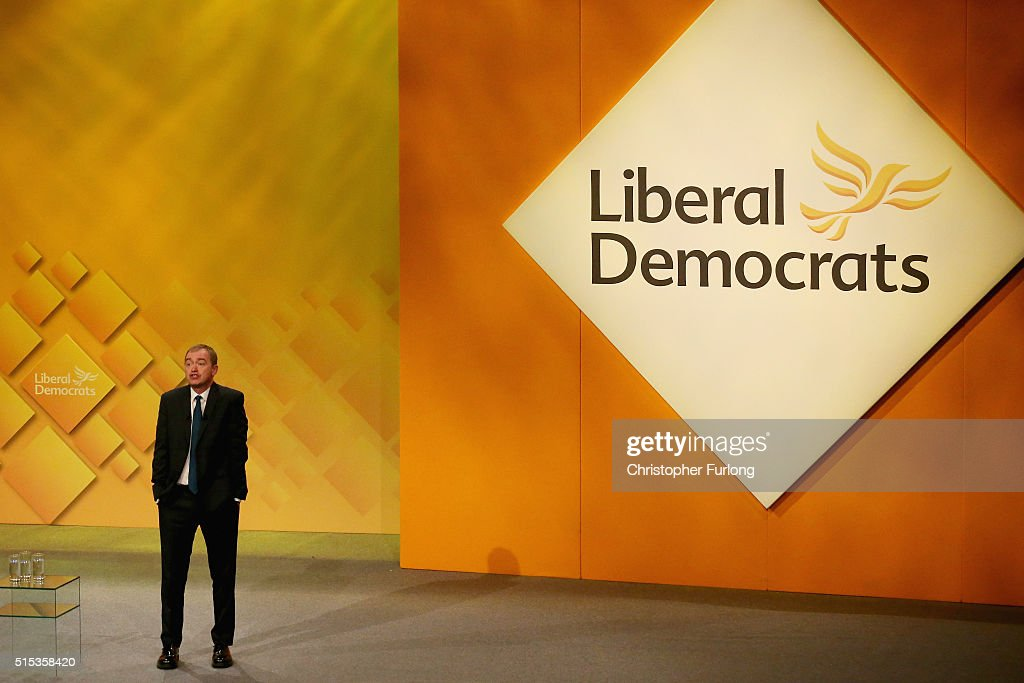 Liberal Democrat leader Tim Farron delivers his keynote speech to delgates during the Liberal Democrats spring conference at York Barbican on March 13, 2016 in York, England. On the last day of the Lib-dem Spring conference Farron claimed the UK is at an economic crossroads and accused Chancellor George Osborne of planning 'unnecessary ' cuts during next weeks budget.