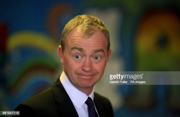 Liberal Democrat leader Tim Farron during a General Election campaign visit to the chariy Gloustershire Action for Refugess and Asylum Seekers in...