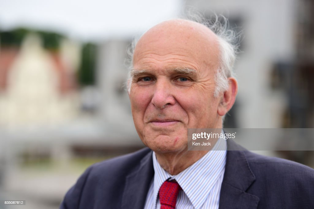 Liberal Democrat leader Vince Cable poses for photographs ahead of a Scottish Liberal Democrat party event, on August 18, 2017 in Edinburgh, Scotland. Mr Cable met with Scottish Liberal Democrat leader Willie Rennie and other elected members beside the Scottish Parliament.