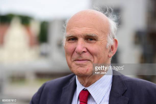 Liberal Democrat leader Vince Cable poses for photographs ahead of a Scottish Liberal Democrat party event on August 18 2017 in Edinburgh Scotland Mr...