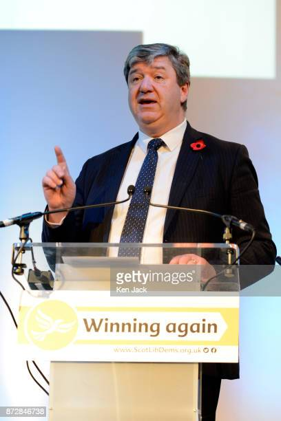 Liberal Democrat MP Alistair Carmichael moves an emergency motion on the Paradise Papers at the Scottish Liberal Democrats' autumn conference on...