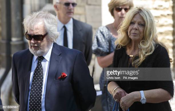 Liberal Democrat MP for Portsmouth South Mike Hancock and his wife Jacqui at the funeral of former Royal Navy Commander Eddie Grenfell at the...