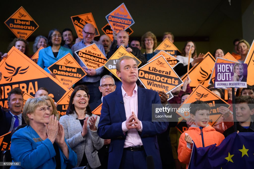 Liberal Democrat Leader Tim Farron Attends Election Campaign Event