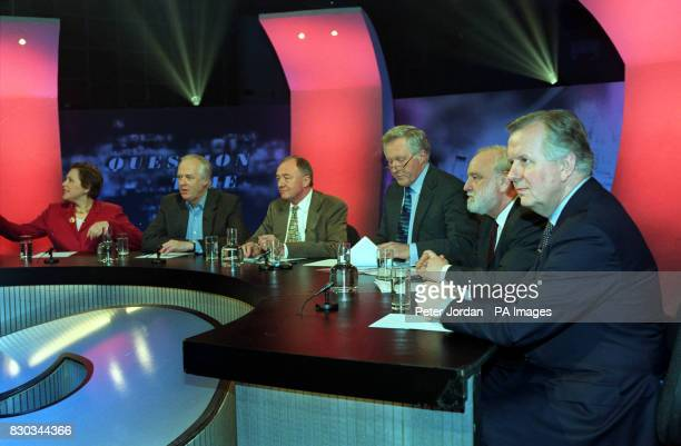 Liberal Democrat Susan Kramer Sir Tim Rice Ken Livingstone programme presenter David Dimbleby Labour's Frank Dobson and Conservative's Steve Norris...