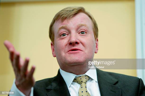 Liberal Democrats Leader Charles Kennedy holds a final general election press conference May 4 2005 in London England Mr Kennedy confirmed the...