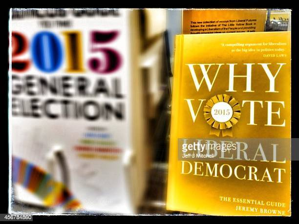 Liberal Democrats merchandise for sale at the party's autumn conference on October 7 2014 in Glasgow Scotland Liberal Democrat activists and...