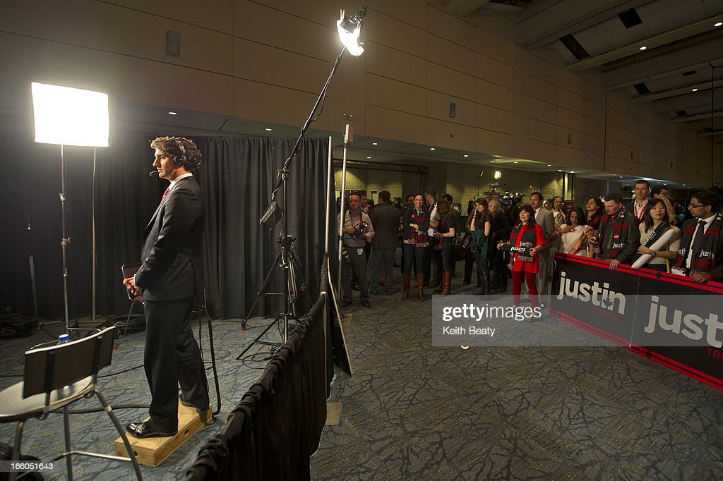 Liberal leadership voting begins. Justin Trudeau gives a television interview.