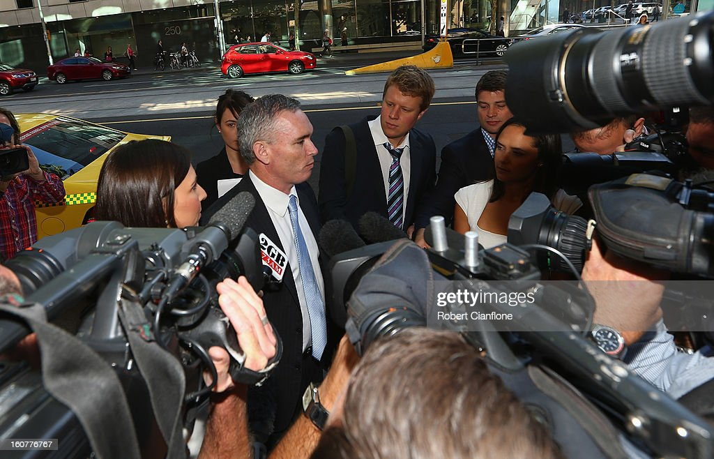 Liberal MP, Craig Thomson arrives at Melbourne Magistrates Court on February 6, 2013 in Melbourne, Australia. Thompson is facing charges on 149 criminal charges including allegations he misused member funds to pay prostitutes, book travel and withdraw cash when he was national secretary of the Heatlh Services Union.