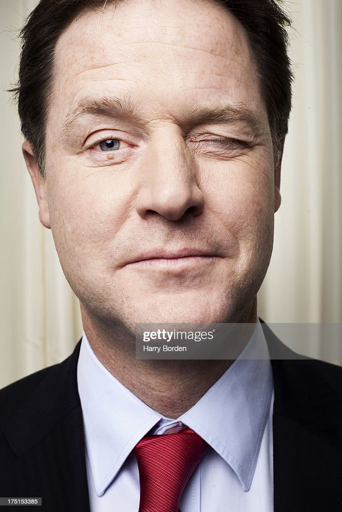 UK Liberal party politician <a gi-track='captionPersonalityLinkClicked' href=/galleries/search?phrase=Nick+Clegg&family=editorial&specificpeople=579276 ng-click='$event.stopPropagation()'>Nick Clegg</a> is photographed for the Sunday Times magazine on December 3, 2012 in London, England.