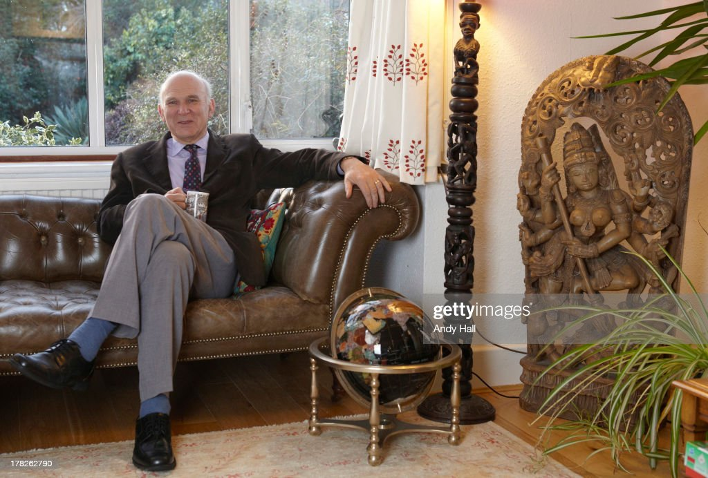 UK Liberal party politician Vince Cable is photographed for the Observer on December 6, 2012 in Twickenham, England.