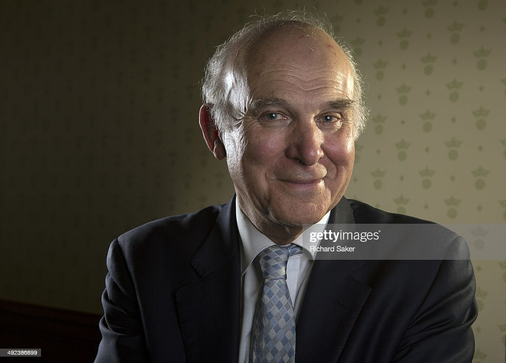 UK Liberal Party politician <a gi-track='captionPersonalityLinkClicked' href=/galleries/search?phrase=Vince+Cable&family=editorial&specificpeople=4872939 ng-click='$event.stopPropagation()'>Vince Cable</a> is photographed for the Observer on March 3, 2014 in London, England.