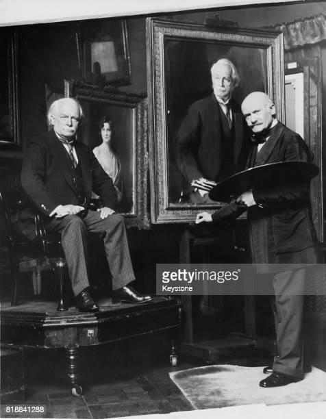 Liberal politician and former Prime Minister of the United Kingdom David Lloyd George sits for a portrait by artist Philip de Laszlo UK July 1931 The...