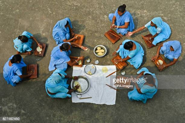 ALWAR RAJASTHAN ALWAR RAJASTHAN INDIA Liberated manual scavengers seen learning to make papad inside the Nai Disha rehab centre run by an NGO...