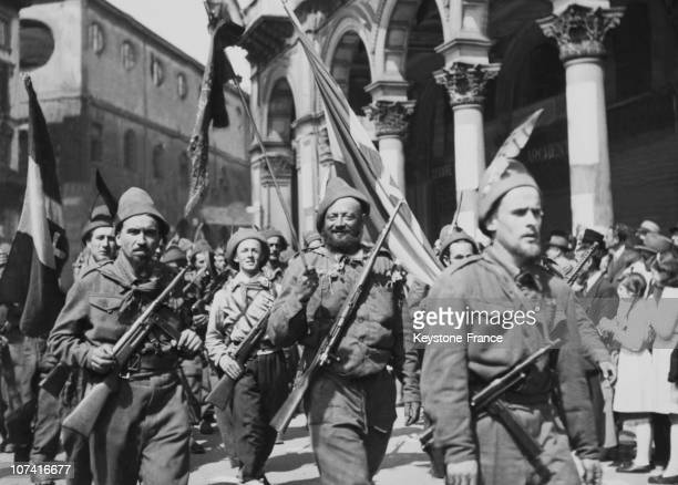 Liberation Of Milan Italian Partisans Parade On May 6Th 1945