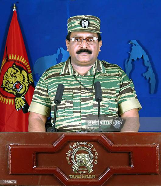 Liberation Tigers of Tamil Eelam supremo Velupillai Prabhakaran makes his annual Heroes' Week address to his people from the Northern Sri Lankan town...