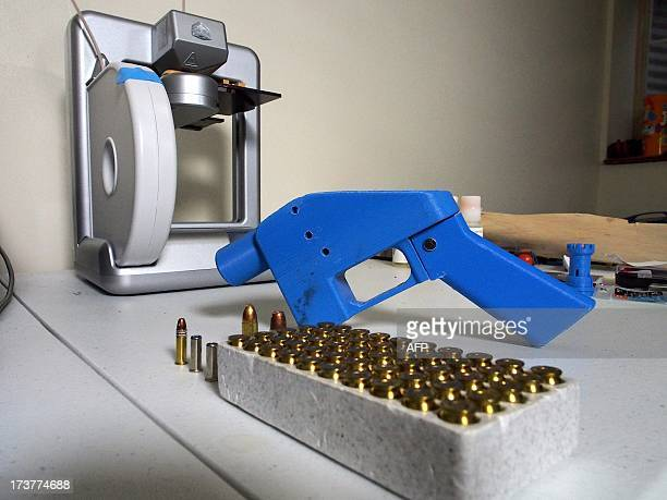 Liberator pistol appears on July 11 2013 next to the 3D printer on which its components were made The singleshot handgun is the first firearm that...