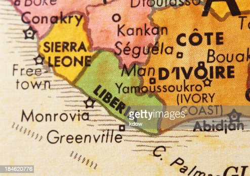 Liberia on the Map