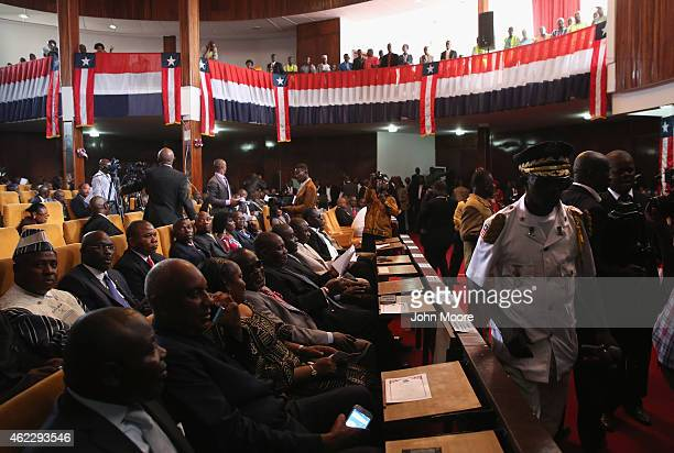 Liberian lawmakers gather before Liberian President Ellen Johnson Sirleaf delivered her State of the Nation address to a joint session of the...
