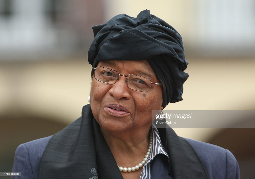 Liberian President <a gi-track='captionPersonalityLinkClicked' href=/galleries/search?phrase=Ellen+Johnson+Sirleaf&family=editorial&specificpeople=547358 ng-click='$event.stopPropagation()'>Ellen Johnson Sirleaf</a> attends the second day of the summit of G7 nations at Schloss Elmau on June 8, 2015 near Garmisch-Partenkirchen, Germany. In the course of the two-day summit G7 leaders are scheduled to discuss global economic and security issues, as well as pressing global health-related issues, including antibiotics-resistant bacteria and Ebola.