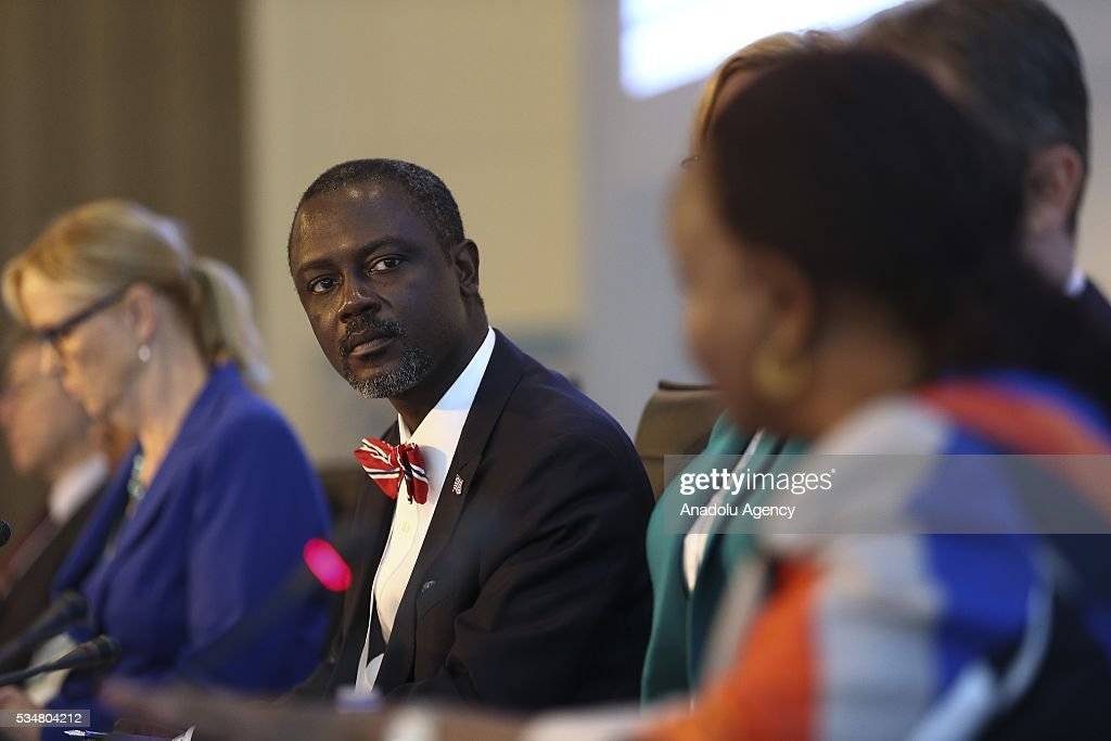 Liberia's Commerce and Industry Minister Axel Addy (2nd L) attends 'Trade and commodities and economic diversification and graduation' meeting during the Midterm Review of the Istanbul Programme of Action at Titanic Hotel in Antalya, Turkey on May 28, 2016. The Midterm Review conference for the Istanbul Programme of Action for the Least Developed Countries takes place in Antalya, Turkey from 27-29 May 2016.