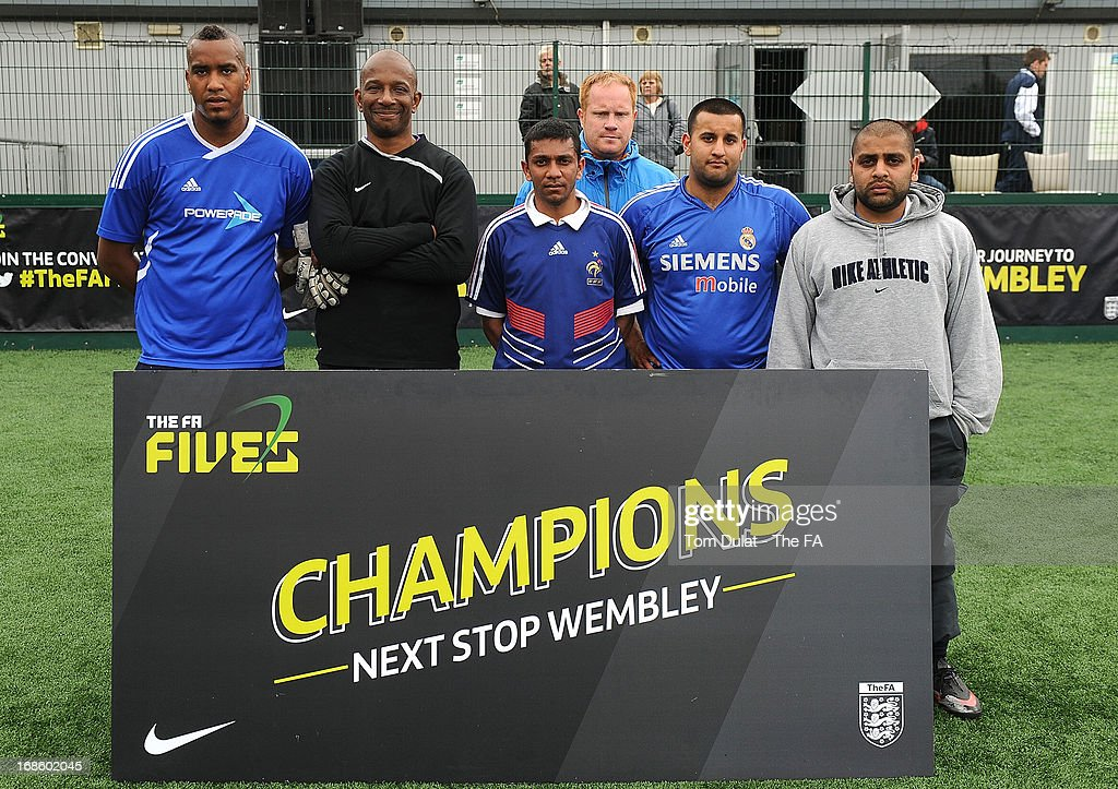 Liberties pose for photos during the FA Fives at Power League Community on May 12, 2013 in Basingstoke, England.