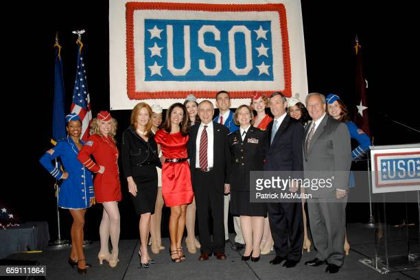 USO Liberty Bells Amy Miles Stephanie George Stephen J Scheffer Major General Patricia D Horoho Patrick Condren and Nate Cantor attend The WOMAN OF...