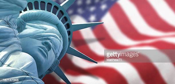 Affût de la liberté avec nous, drapeau