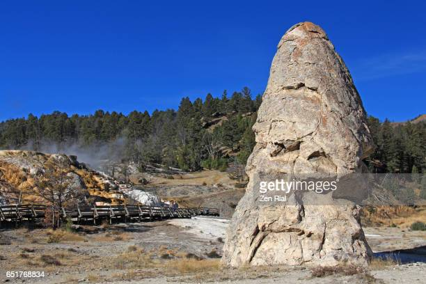 Liberty Cap of Mammoth Hot Springs in Yellowstone National Park