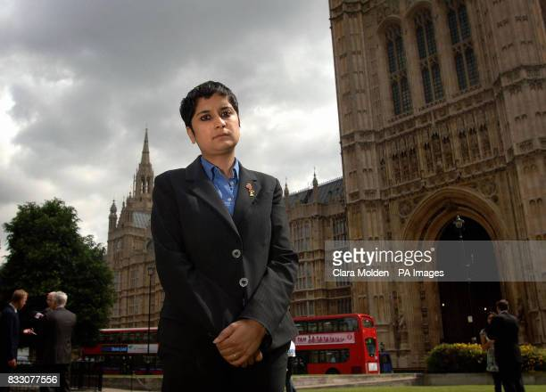 Liberty Director Shami Chakrabarti is photographed after speaking to the media on Abingdon Green outside the House of Lords in central London...